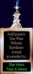 Jedi Jimmie's Star Wars Website Excellence Award