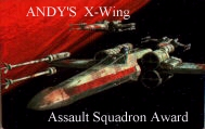 Andy's X-Wing Assault Squadron Award